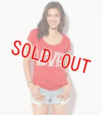アメリカンイーグル レディース Tシャツ American Eagle  AE Love Graphic T-Shirt Red Drop