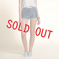 ホリスター  デニムショートパンツ レディース Hollister Hollister High Rise Short-Shorts Embellished Medium Wash