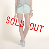 ホリスター  デニムショートパンツ レディース Hollister Hollister High Rise Short-Shorts 	MINT GREEN WASH